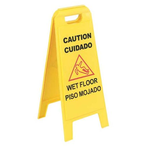 English / Spanish Wet Floor Sign