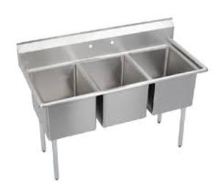 Compartment Sinks without Drainboards