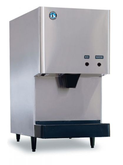 "Hoshizaki DCM-270BAH 282 lb 17"" Wide Air-Cooled Cubelet-Nugget Style Ice Machine and Water Dispenser"
