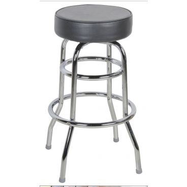 Standard Bar Stool with Double Ring Chrome Frame