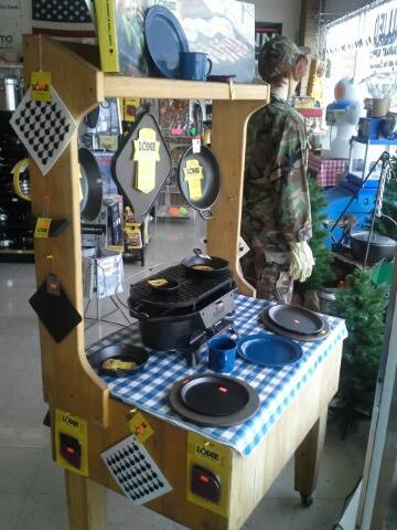 Country Cooking Display of Lodge products