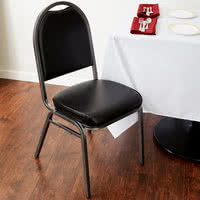 "Black Stackable Banquet Chair with 2"" Padded Seat"