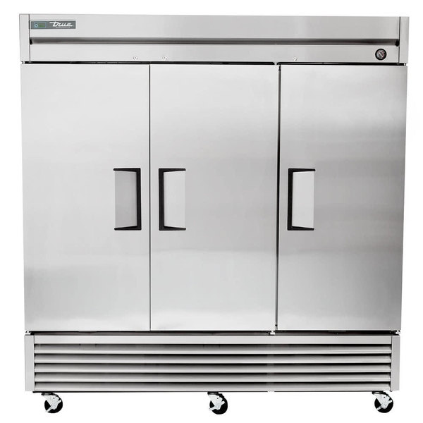 "True TS-72F-HC 78"" Stainless Steel Solid Door Reach-In Freezer"