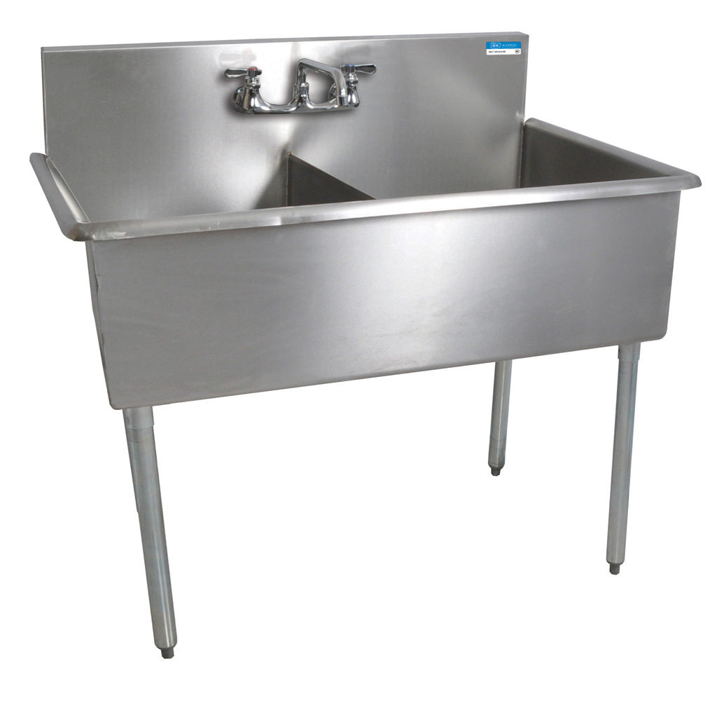2 COMPARTMENT BUDGET SINK 24X24X12D BOWLS T-430 SS