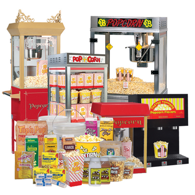 Popcorn Machines and supplies for any demand
