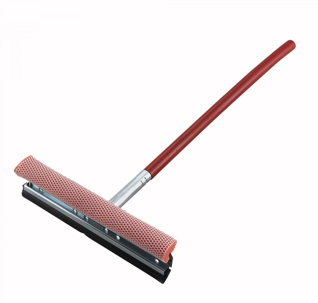 "Winco WSS-12 12"" Window Squeegee & Sponge"