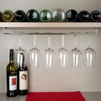"24"" Chrome Plated Glass Hanger Rack"