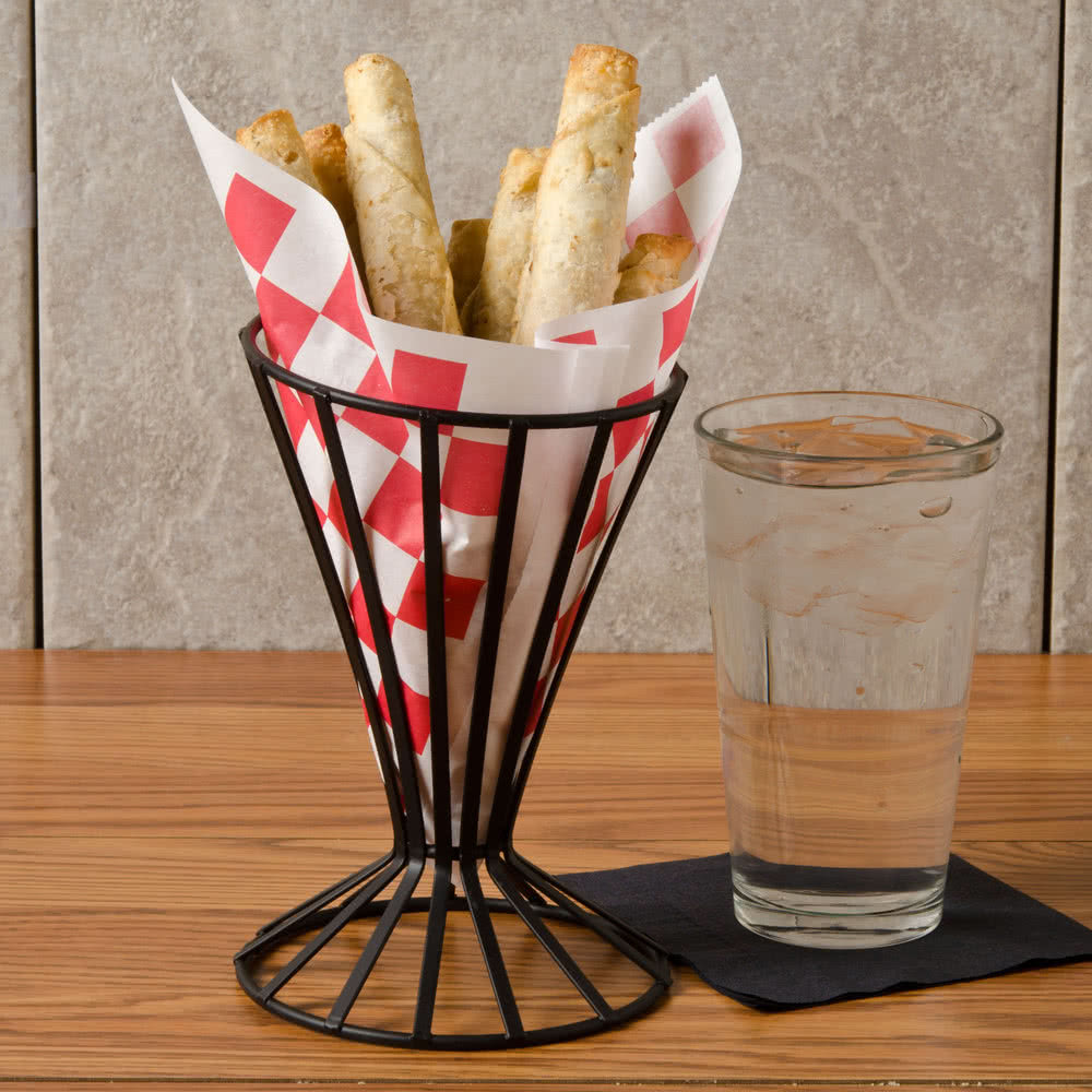 Check Wire Cone Basket Liner / Deli Wrap / Double Open Bag