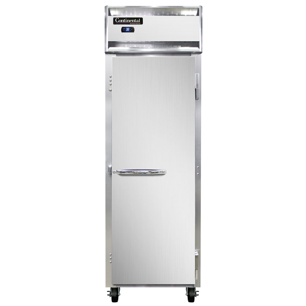 "Continental Refrigeration 1R 26"" Single Section Reach-In Refrigerator, (1) Solid Door, 115v"