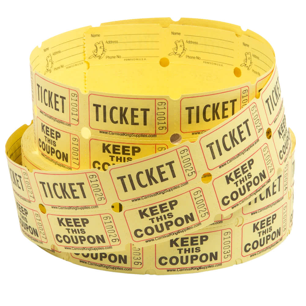2-Part Raffle Tickets - 2000/Roll