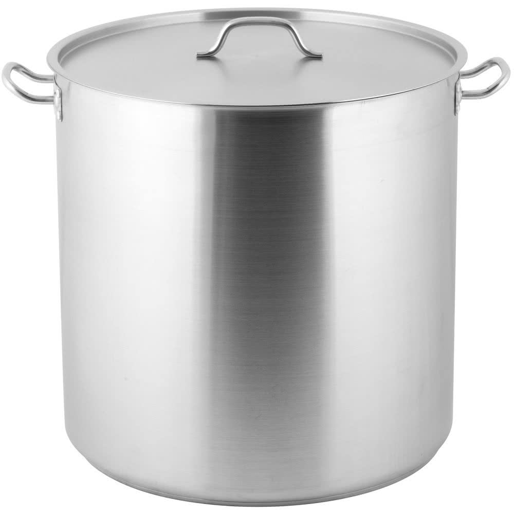 Heavy-Duty Stainless Steel Stock Pot with Cover